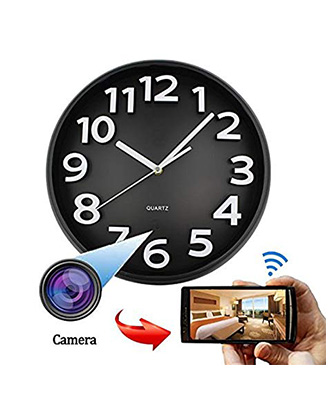 WiFi Spy Hidden Wall Clock Camera